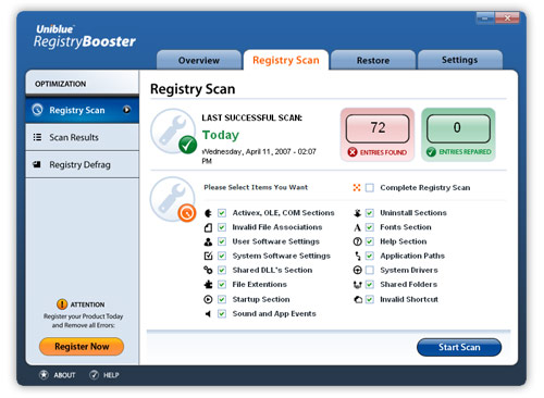 screenshot RegistryBooster 2011 5.0.0.14 1