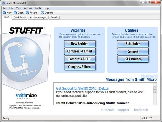 StuffIt.Deluxe.2010.14.0.1.270 Smith Micro StuffIt 14.0.1.27 Download Last Update