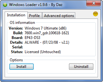 Windows 7 Crack Loader 2.1.2