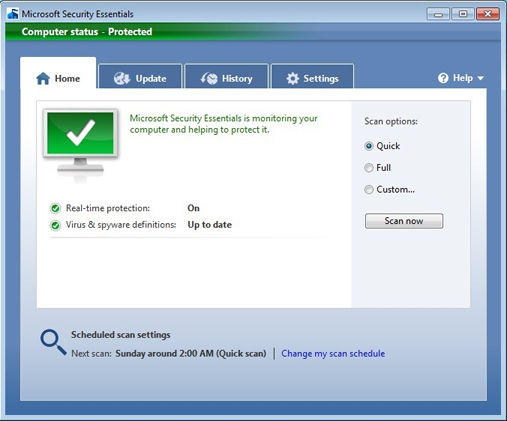 Microsoft Security Essentials обновления - фото 3
