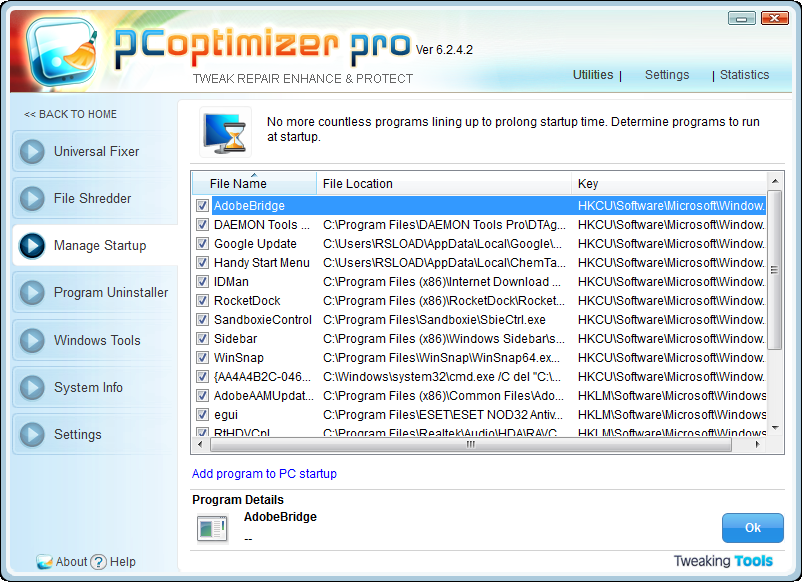 ������� PC Optimizer