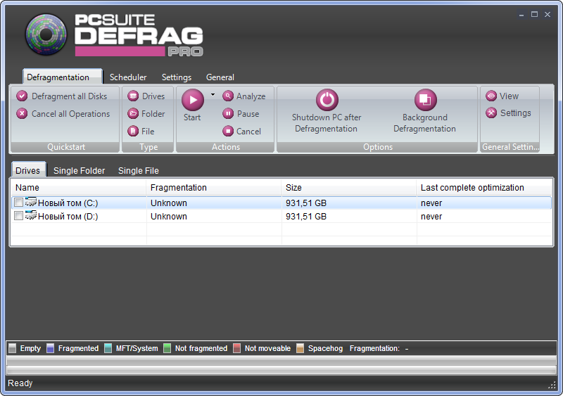 PcSuite Defrag