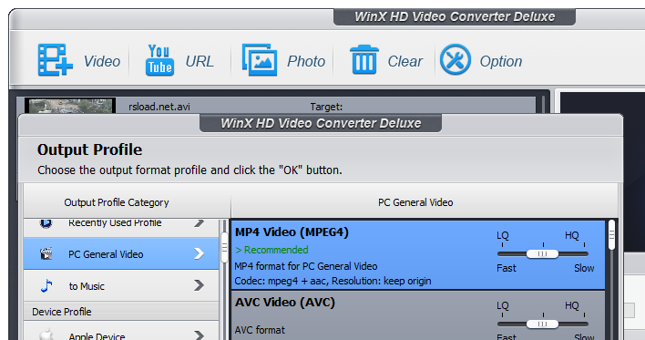 WinX HD Video Converter Deluxe 5.0.0 build 179 + keygen Download Free.