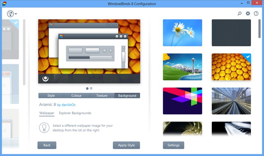 Stardock Windowblinds 8.04 Trial Reset. Лицензия: ShareWare Язык: English