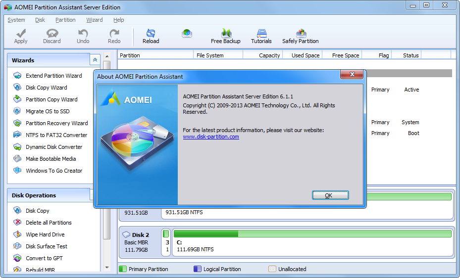 Aomei partition assistant - фото 10