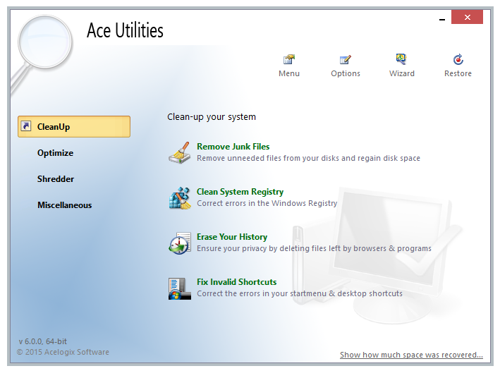 Ace utilities 4 1 1 4053 system maintenance and optimizer utility software