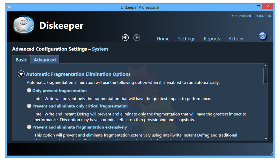 Diskeeper pro.