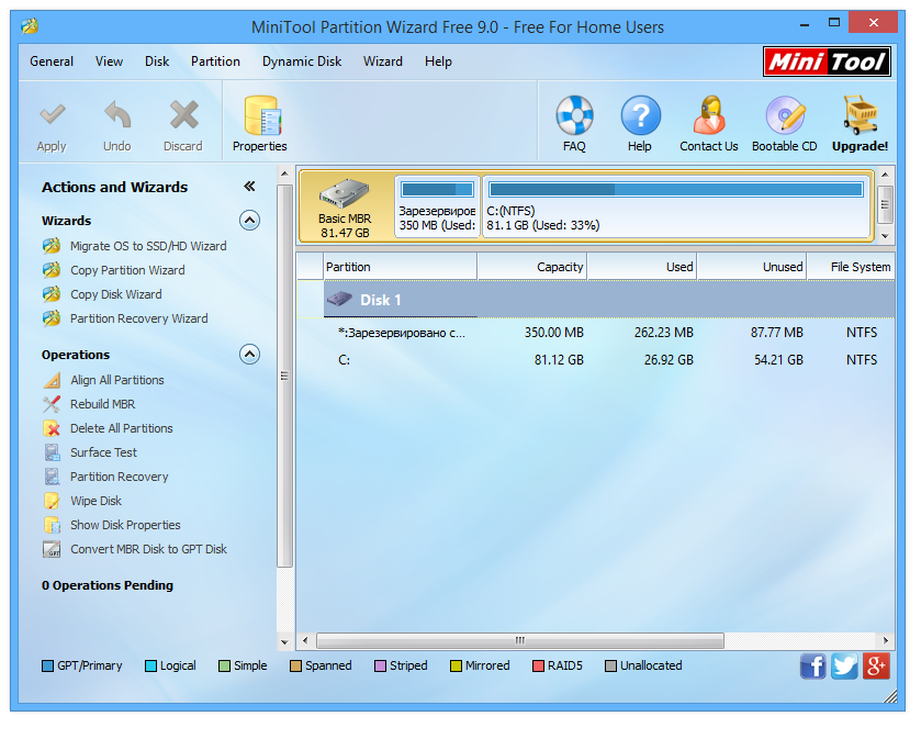 Mini tools partition wizard rus скачать