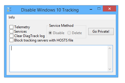 Windows 10 Tracking Disable Tool